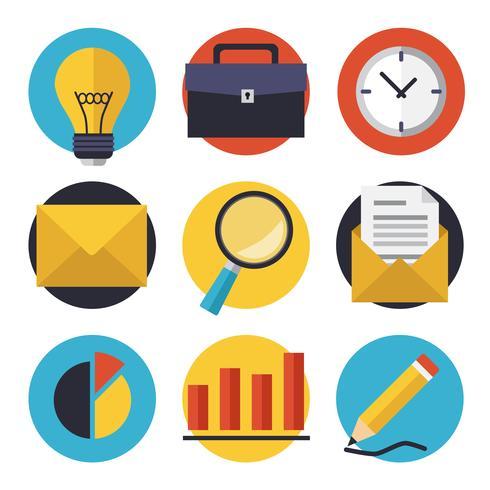 Conjunto de iconos de negocios y oficina