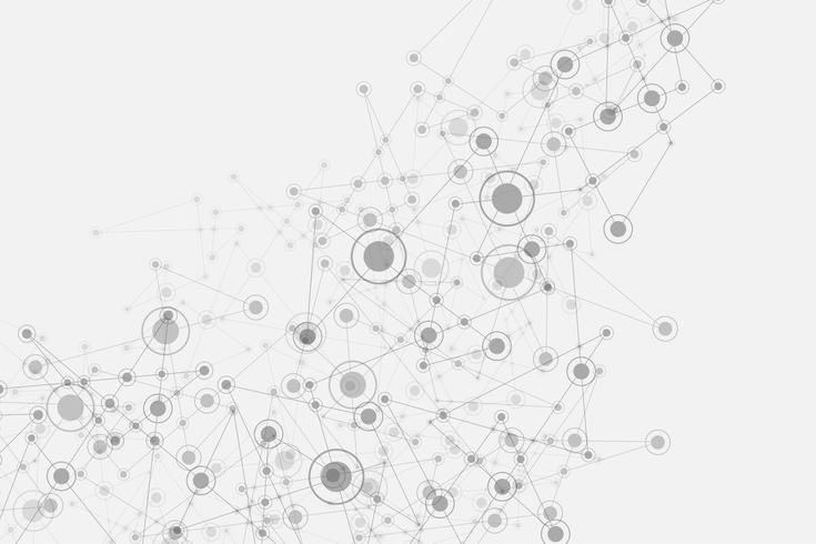 Het vector abstracte ontwerp van het achtergrondtechnologienetwerk.