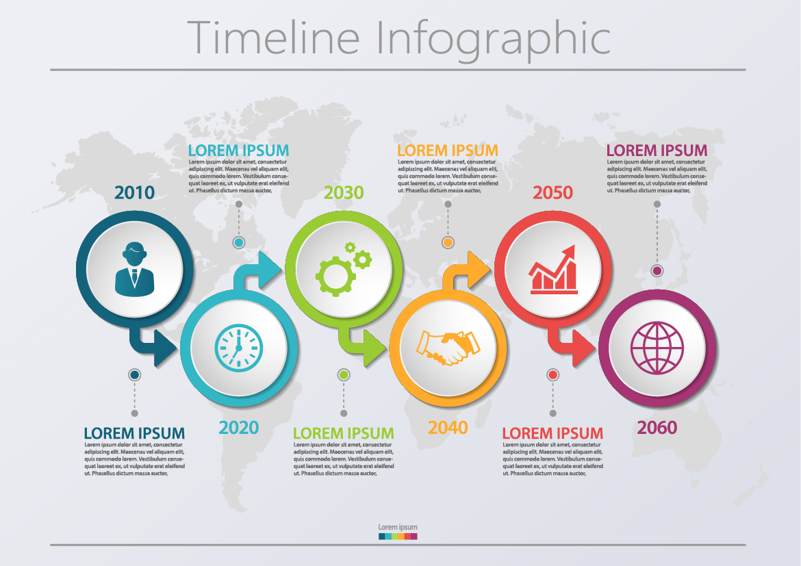 business data visualization  timeline infographic icons