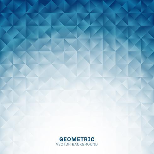 Abstrakta geometriska trianglar mönster blå bakgrund med plats för text. Kreativ designmall.