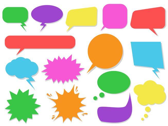 Set of colorful speech bubbles - Vector illustration