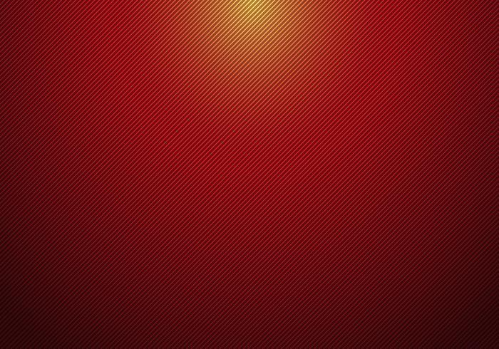 Las líneas diagonales abstractas rayaron el fondo rojo de la pendiente con el proyector desde arriba y la textura para su negocio. vector