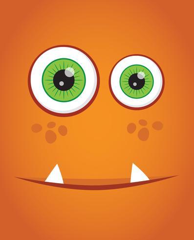 Face monster background vector