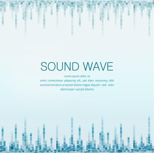 onda de sonido vector