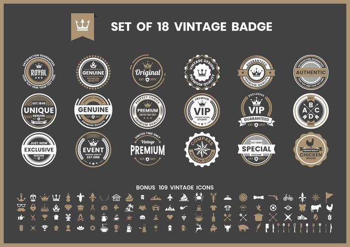 Vector Retro Vintage para banner