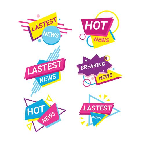 Lastest News Badges Collection vector