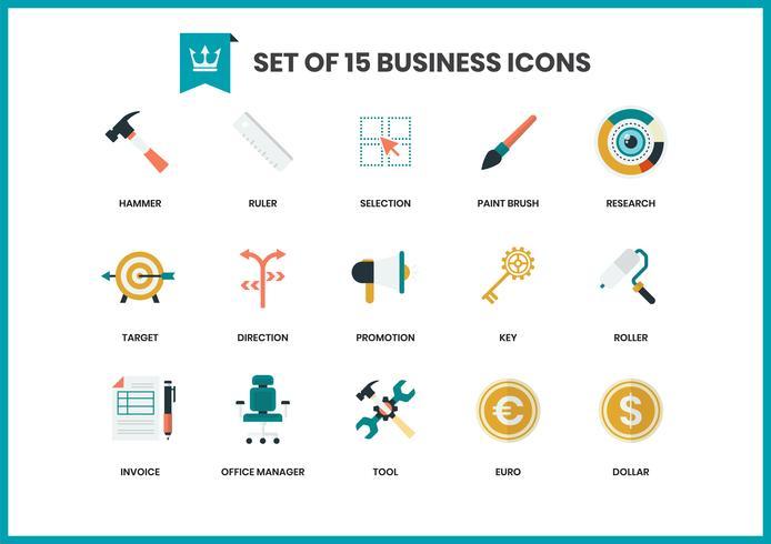 Iconos de negocios establecidos para el negocio vector