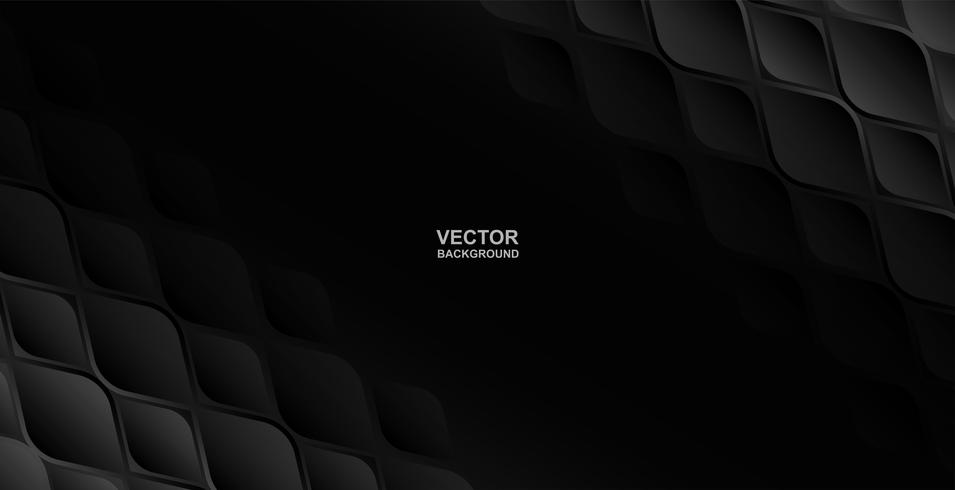 Abstract .Geometric shape embossed black background ,light and shadow. Vector.