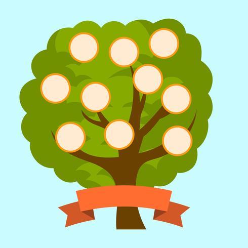 Modèle vectoriel plat arbre généalogique