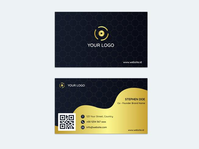 Golden Business Card With Pattern
