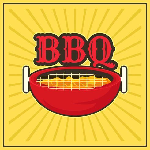 affiche rétro barbecue