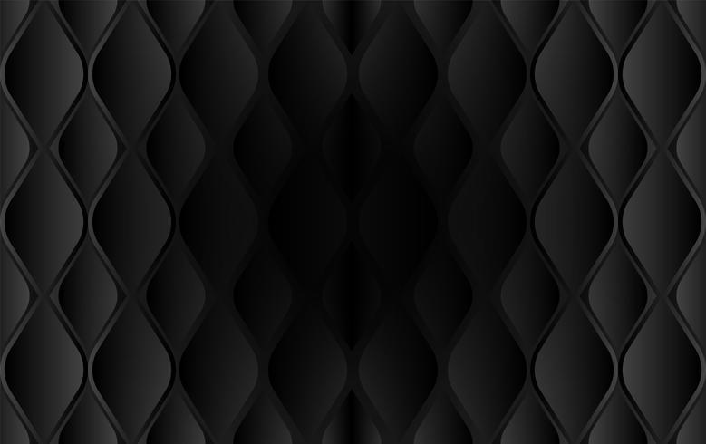Extracto. Fondo, luz y sombra negros grabados en relieve forma geométrica. Vector.