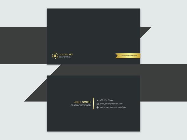 Cartão de visita dourado minimalista