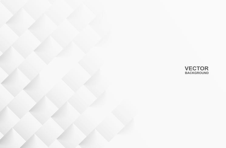 Estratto Fondo, luce ed ombra bianchi quadrati geometrici Vettore