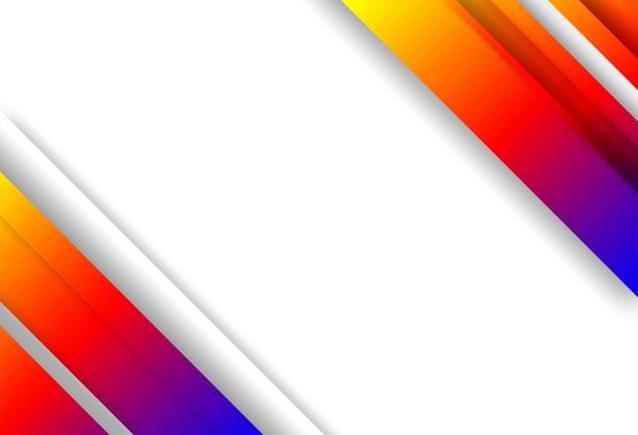 Abstrakt. Färgrik geometrisk form överlapp bakgrund. Ljus och skugga. vektor.