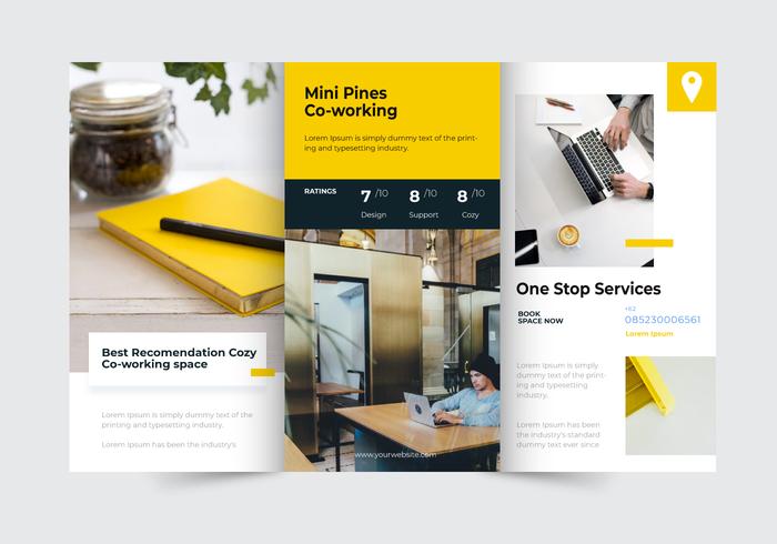 Modelo de vetor de brochura de negócios moderno minimalista