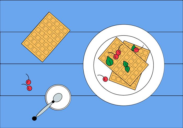 VETOR de waffle grátis