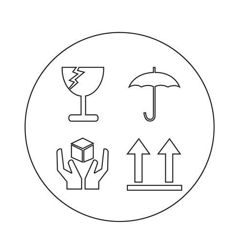 icône fragile vecteur