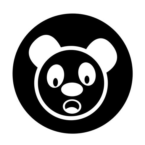 Icône de panda mignon vecteur