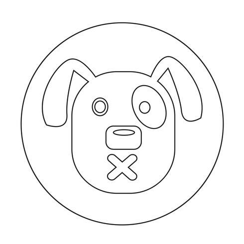 Hunde-Symbol vektor