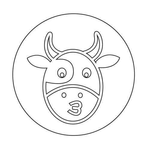Icône de la vache