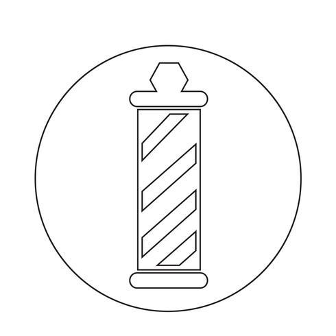 ícone de poste de loja de barbeiro