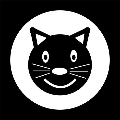 Icono de gato vector