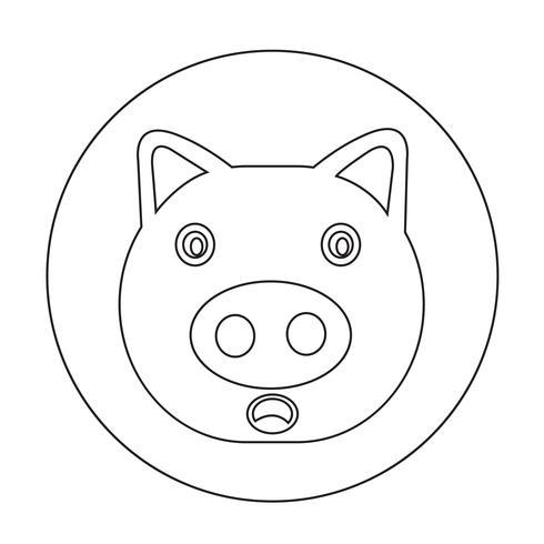 Icono de cerdo lindo