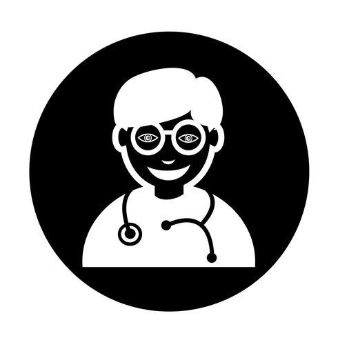 Icono de doctor vector