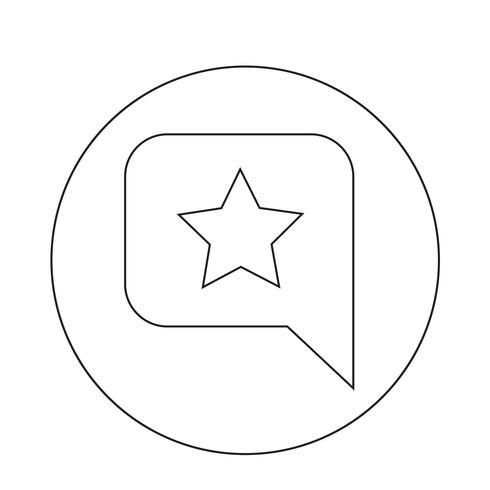 Icône étoile bulle de discours