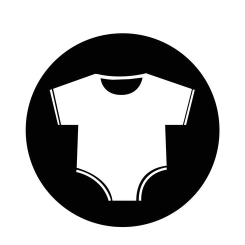 Baby clothing icon vector
