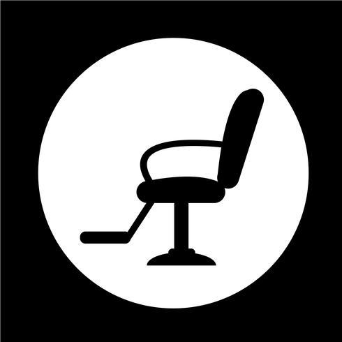 Icône de chaise de coiffeur