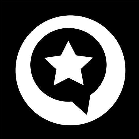 Speech Bubble star icon vector