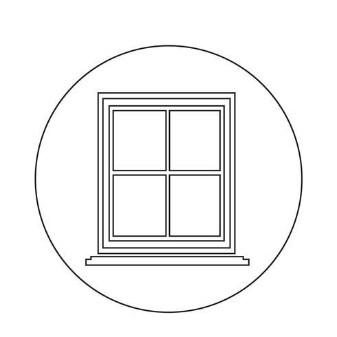 icono de ventana vector