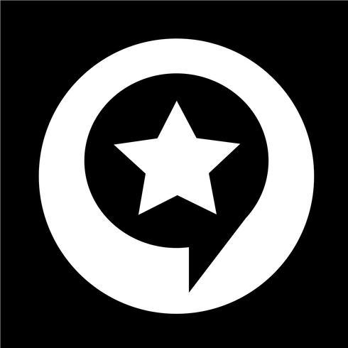 Speech Bubble star icon