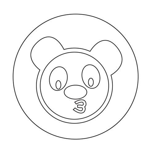 Icono de panda lindo vector