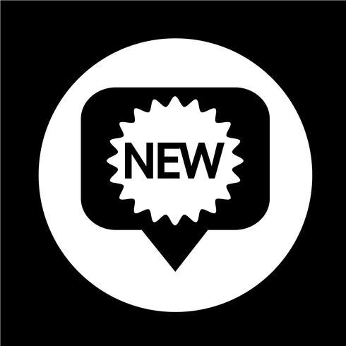 Nuevo icono vector