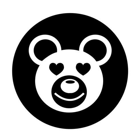 Icono de oso vector