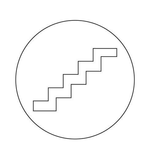 icône d'escalier