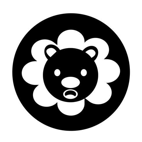 Icona del leone carino