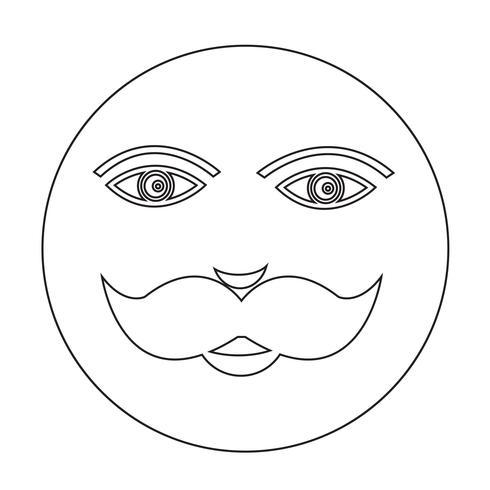 icono de cara de chico de bigote