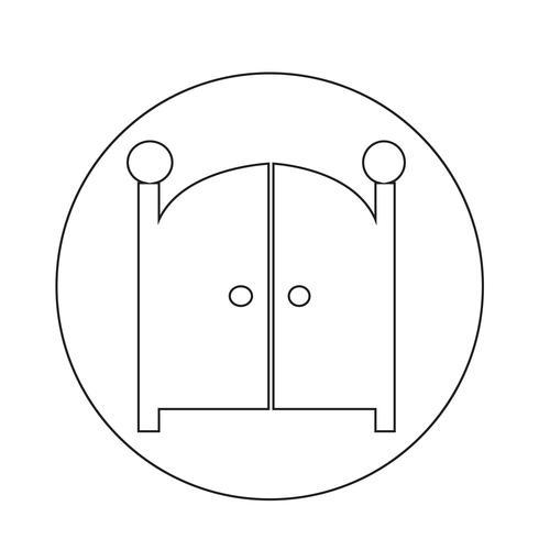 Ícone de portão da frente
