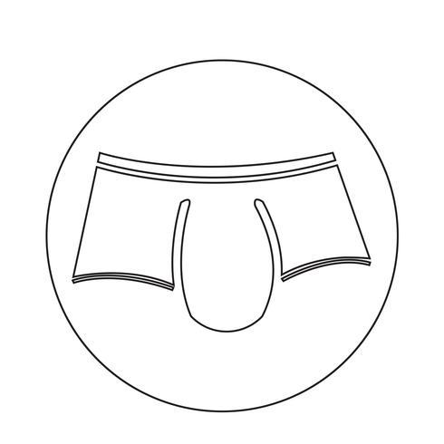 Ícone de roupa íntima masculina vetor