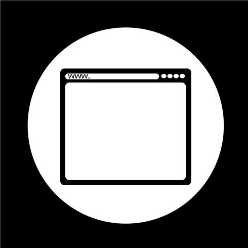 icona del browser vettore