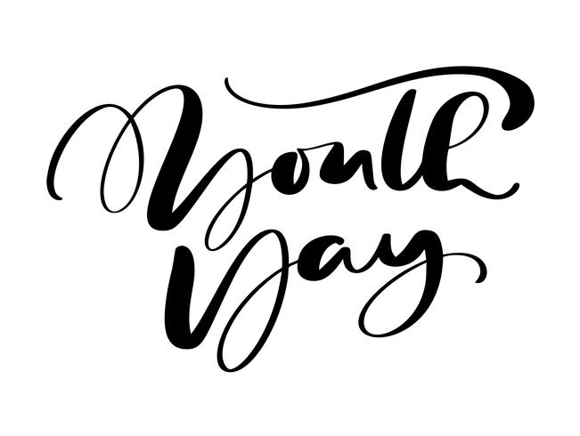 Youth Day vector calligraphy lettering phrase for International Youth Day. Hand drawn logo icon or script for Stylish Poster Banner, greeting card