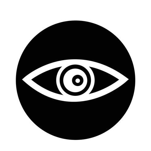 Icono de ojo vector