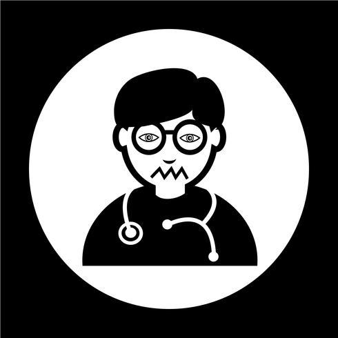 Icona del dottore vettore