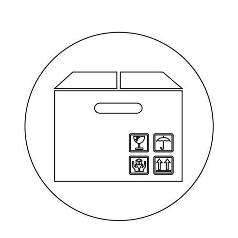 Icona del pacchetto della scatola vettore