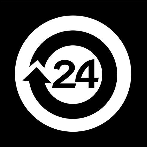 24 Stunden geöffnet Icon