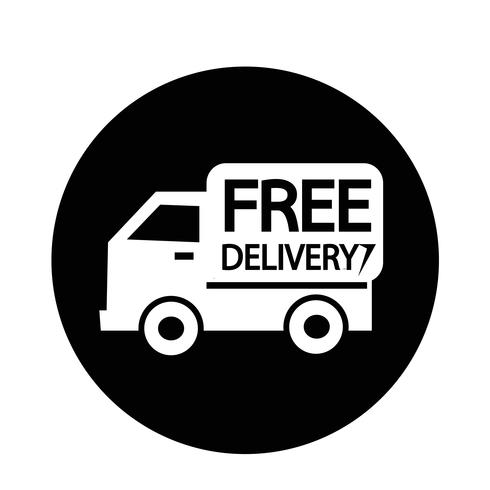 Icono de envío gratis vector